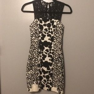 French Connection Dress-B&W animal print